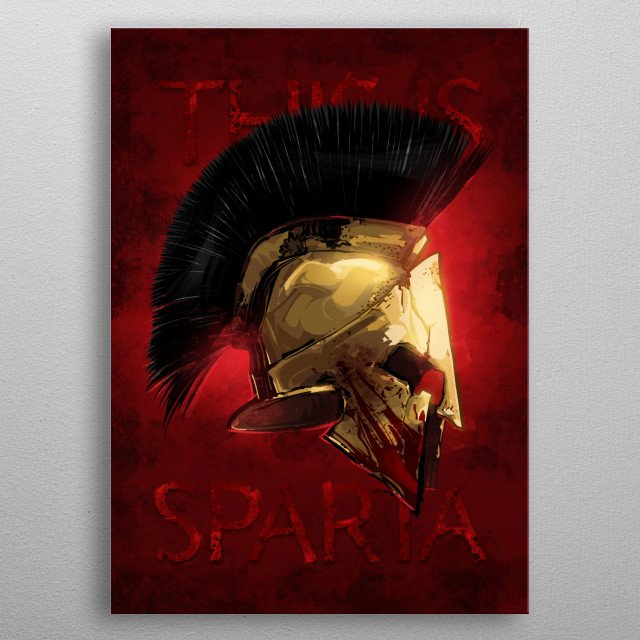 This is Sparta metal poster