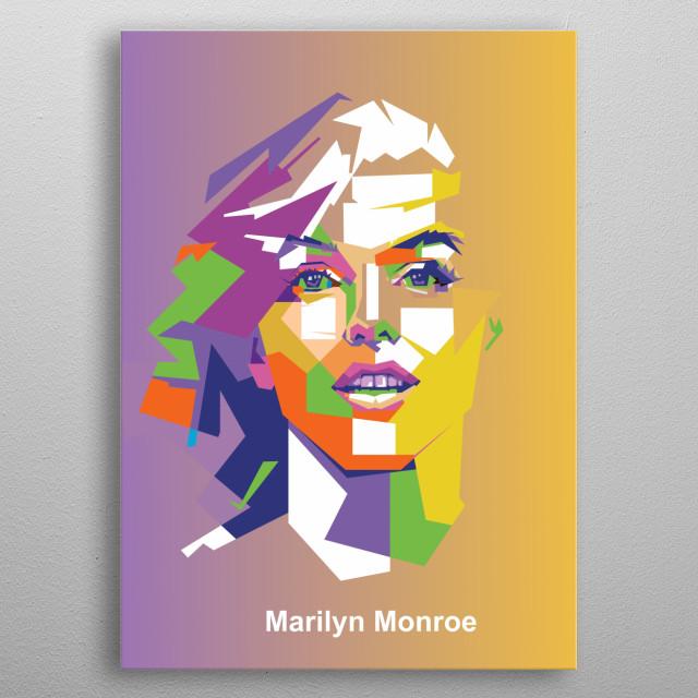 Marilyn Monroe wpap illustration. metal poster