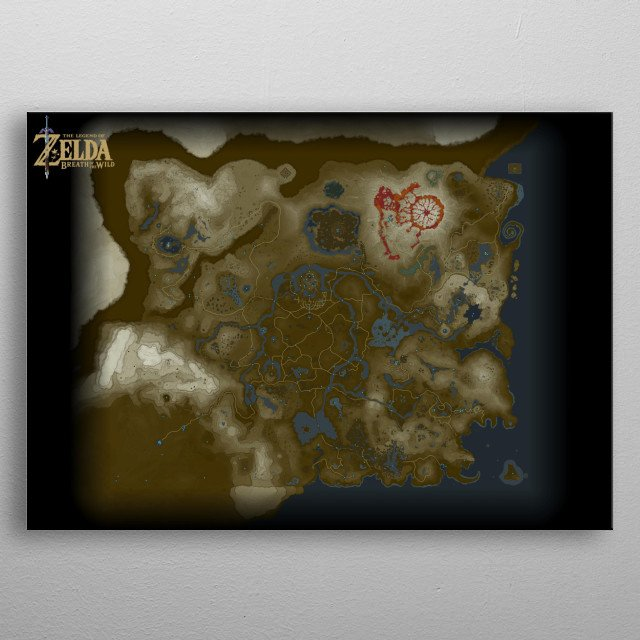 Breath Of The Wild Map Mancave Poster Print Metal Posters