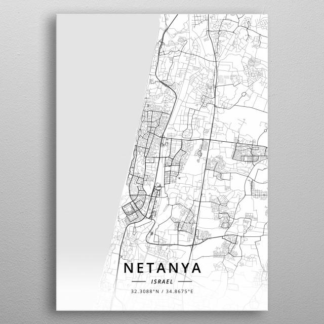 Netanya, Israel metal poster