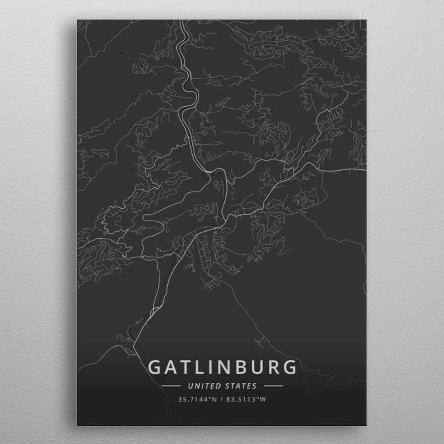 Gatlinburg, United States metal poster
