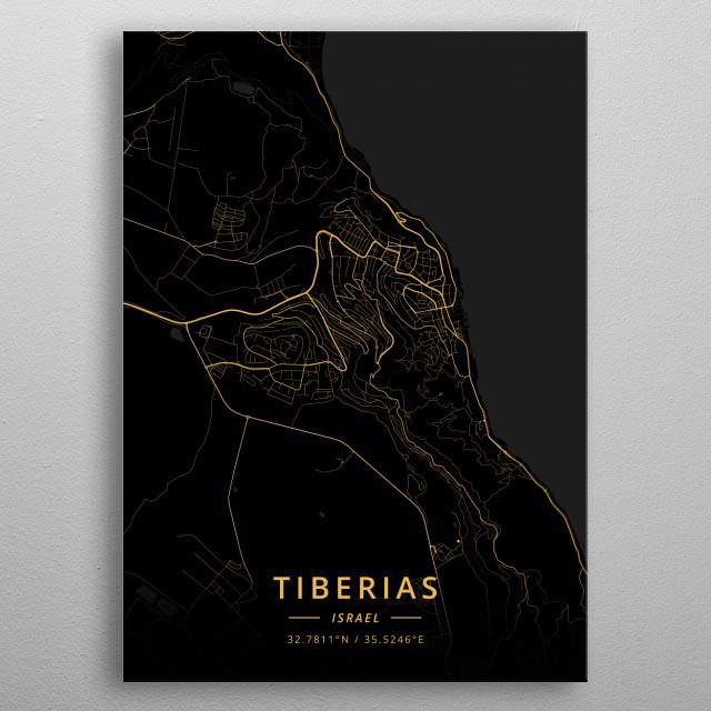 Tiberias, Israel metal poster