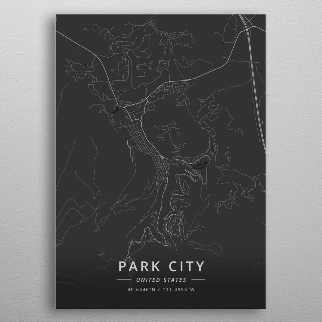 Park City, United States metal poster