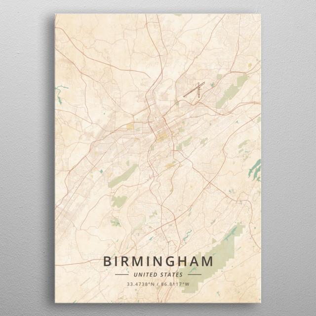 Birmingham, United States metal poster
