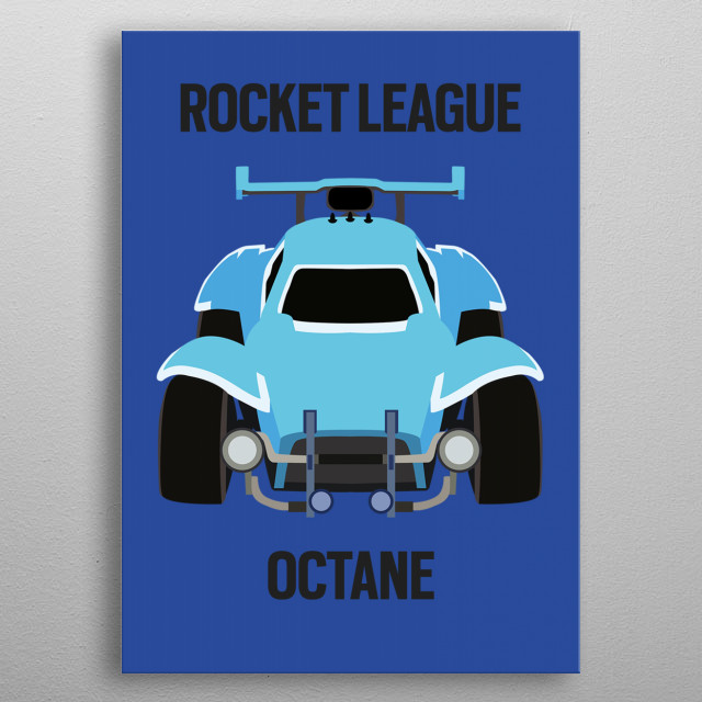 Original, high-quality Octane artwork inspired by the video game: Rocket League. metal poster