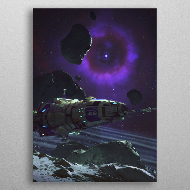 ASV Swordfish IV crew is placing sensors and scientific equipment in a star system 2 light years from an exploding supernova. metal poster