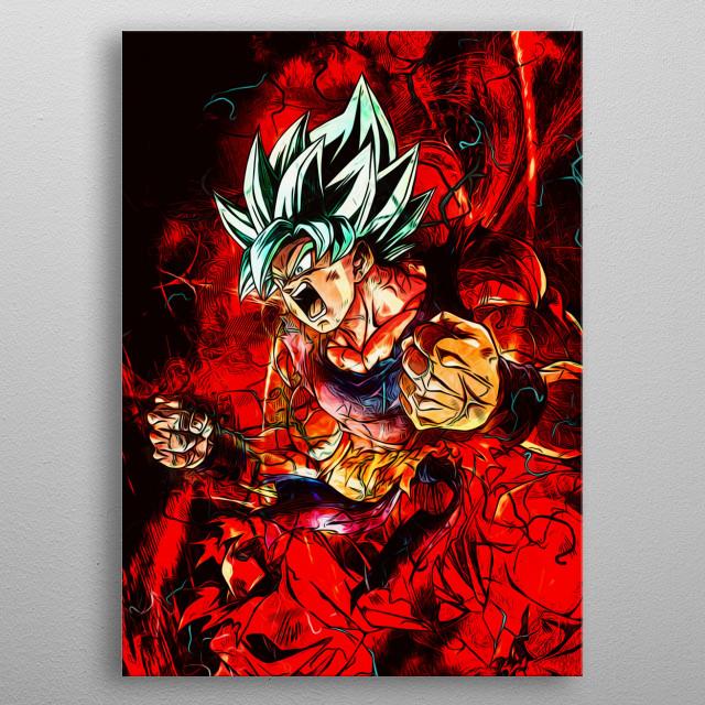Dragon Ball Fan Art Inspiring. metal poster
