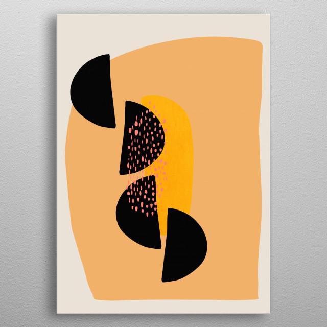 Abstract modern art metal poster