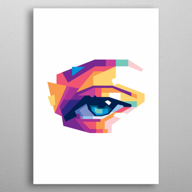 The eye in wpap style metal poster