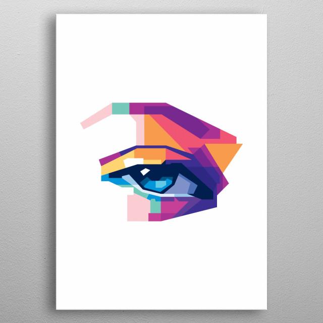 WPAP style eyes  metal poster