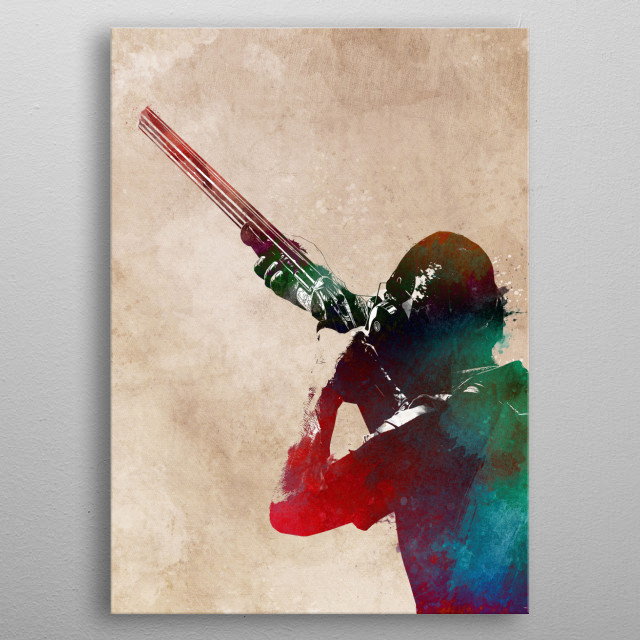 shooting sport art #shooting #hunting  metal poster