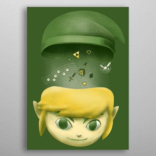 Design inspired by Link metal poster