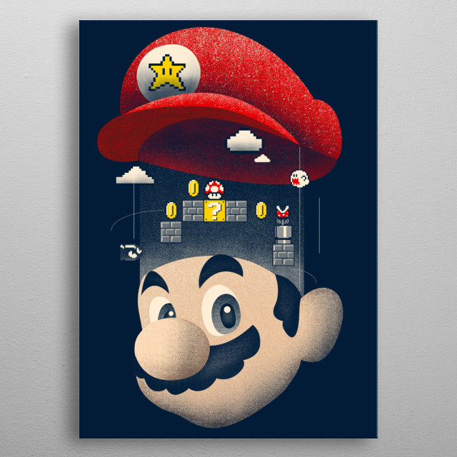 Design inspired by Mario metal poster