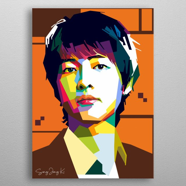 Song Jong Ki is korean actor that play many character in the korean film and drama metal poster