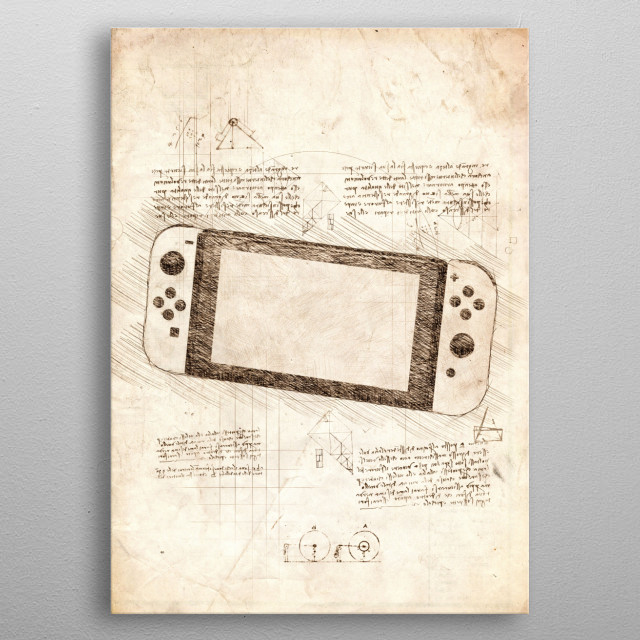 Sketch of the Nintendo Switch metal poster