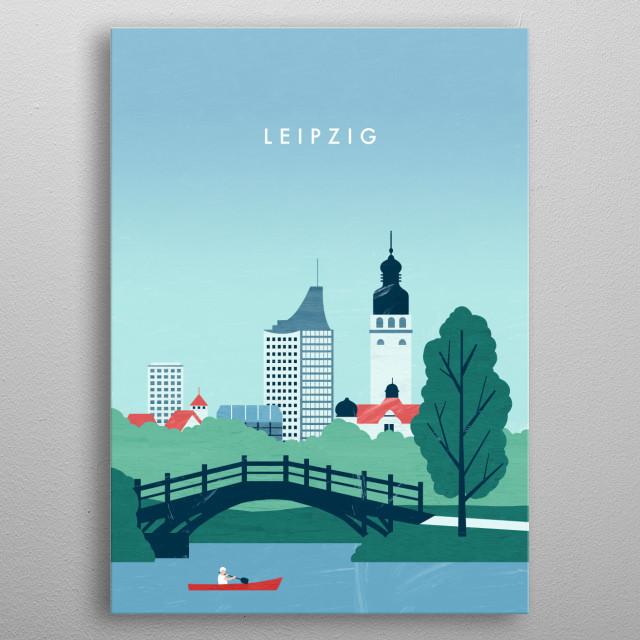 Illustration of Leipzig metal poster