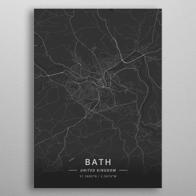 Bath, United Kingdom metal poster