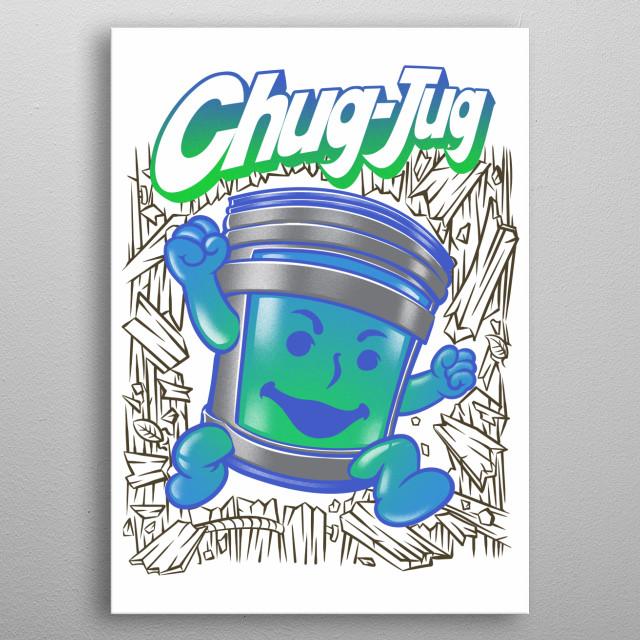 fortnite chug jug kool aid parody metal poster