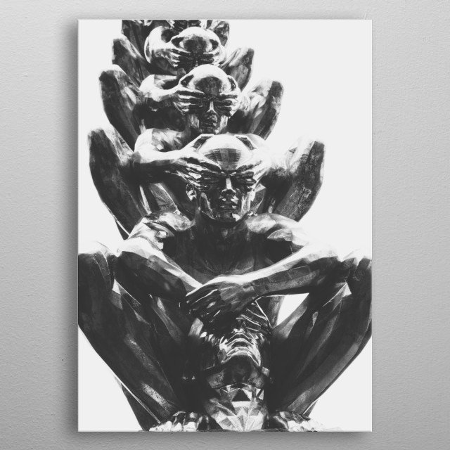 Decorative and beautiful displate for beautiful houses by italian designer Enzo Prosciutto. metal poster