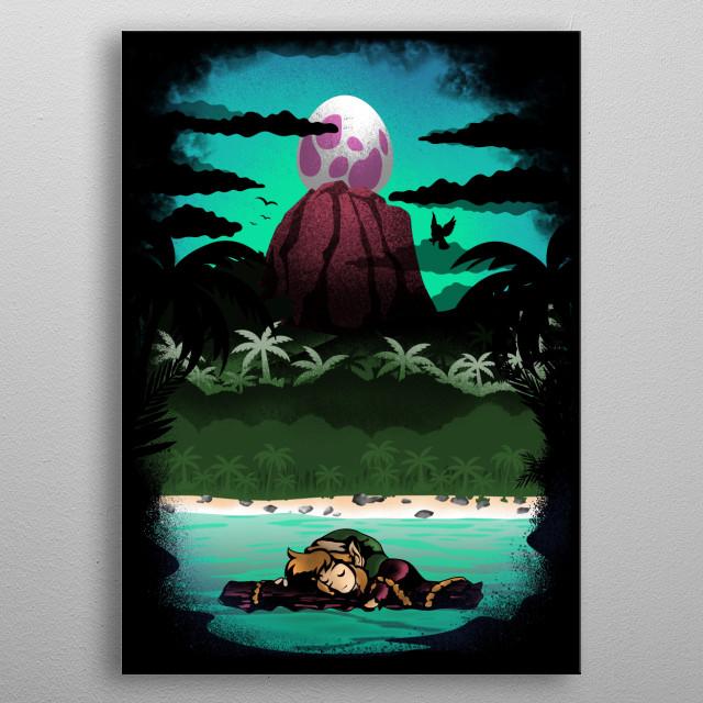 Landscape Illusion metal poster