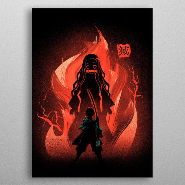 Design inspired by Demon Slayer metal poster