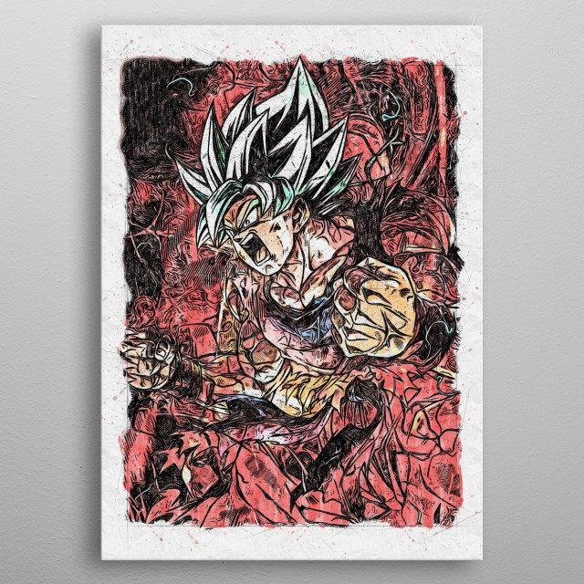Dragon ball inspiring Fan Art. metal poster