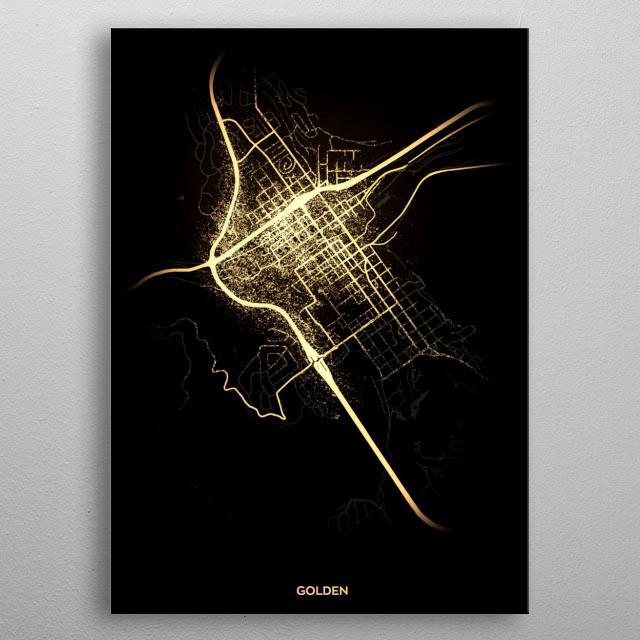 Golden, USA metal poster