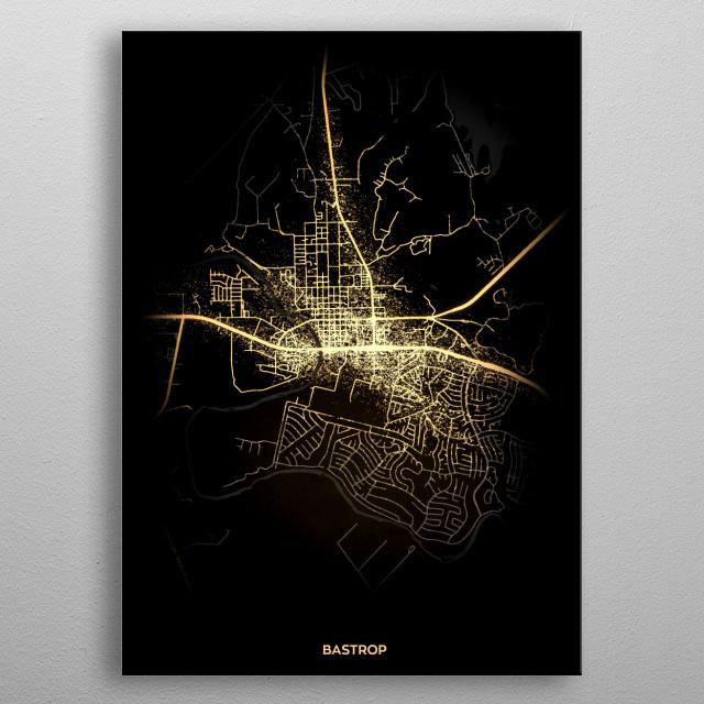 Bastrop, USA metal poster