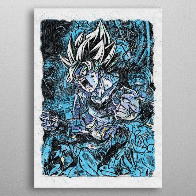 Dragon ball inspiring Fan Art. metal poster