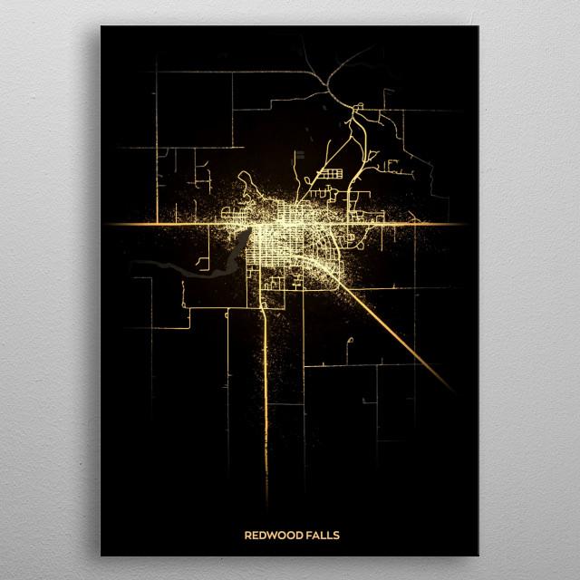 Redwood Falls, USA metal poster