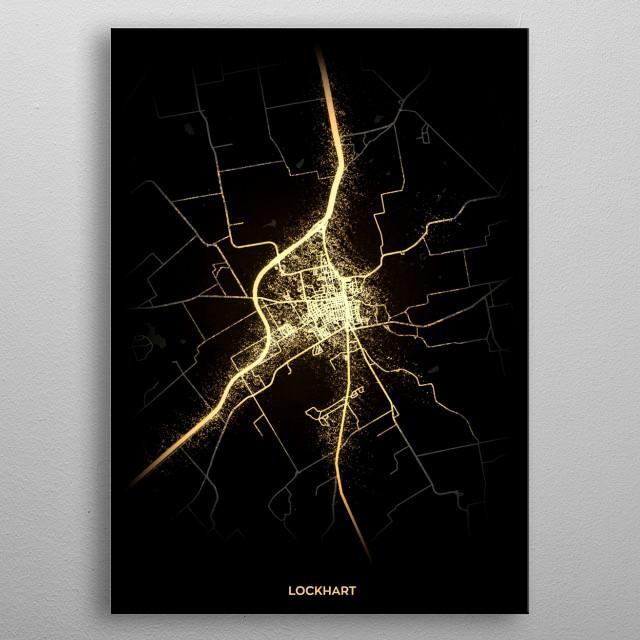 Lockhart, USA metal poster