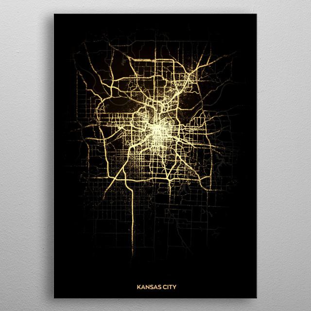 Kansas City, USA metal poster