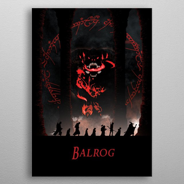 Illustration of a long journey into hell metal poster