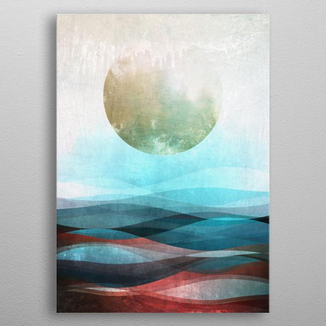 Abstract ocean dreams. metal poster