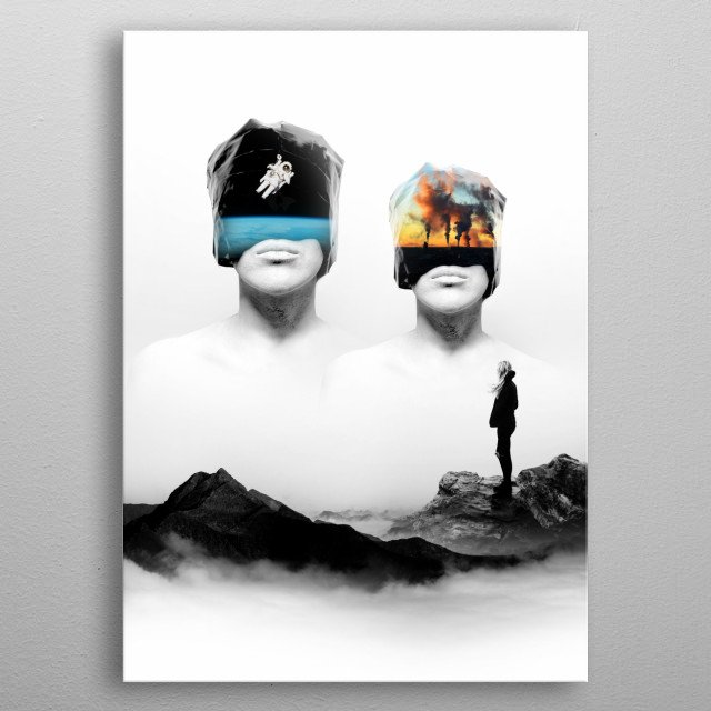 An abstract image illustrating the future of the earth! metal poster