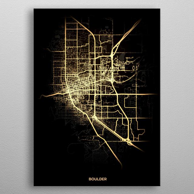 Boulder, USA metal poster