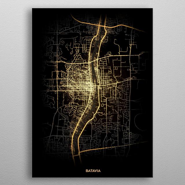 Batavia, USA metal poster