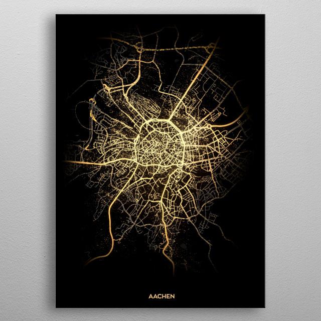 Aachen, Germany metal poster