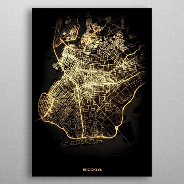 Brooklyn, USA metal poster