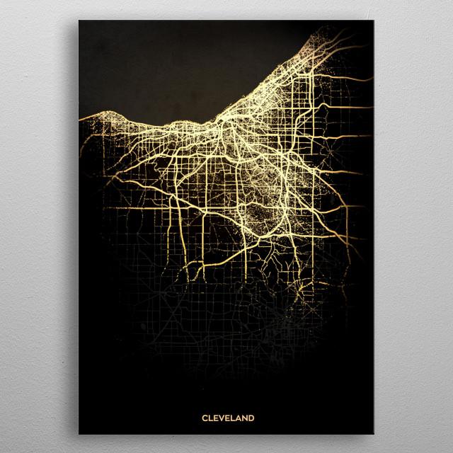 Cleveland, USA metal poster