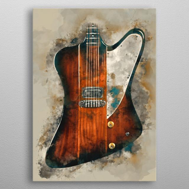 Digital painting of Eric Clapton's guitar metal poster