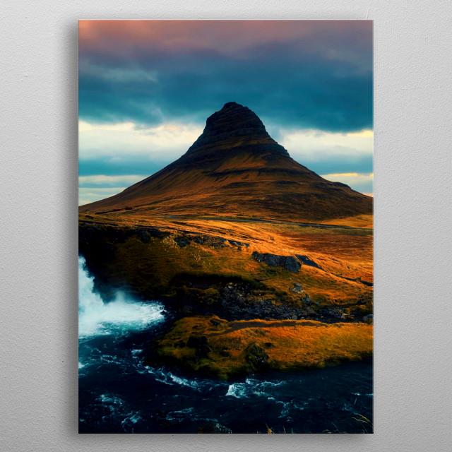 scotland highlands nature beauty metal poster