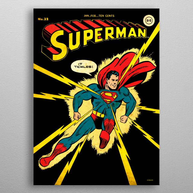 High-quality metal print from amazing Dc Classic Covers collection will bring unique style to your space and will show off your personality. metal poster