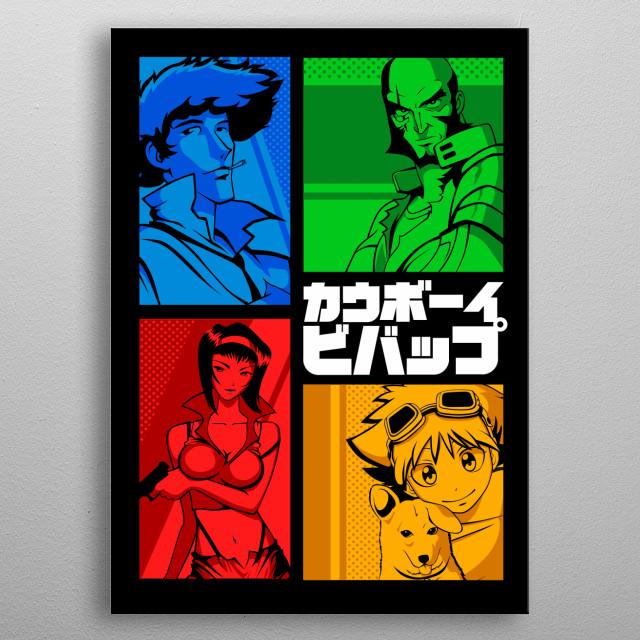 Vector design of Space Cowboy metal poster