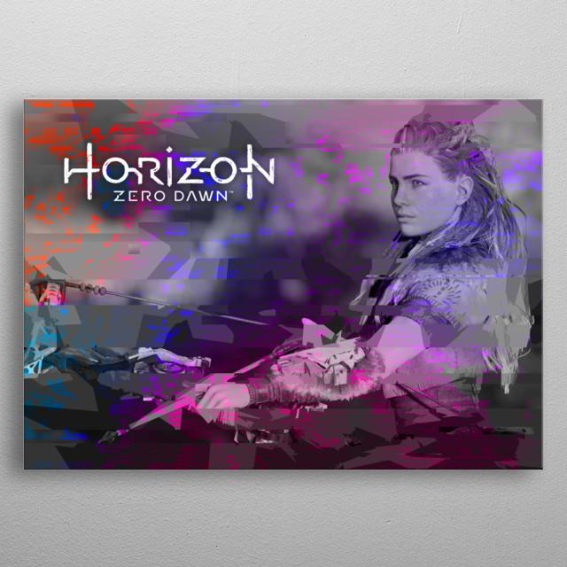 Aloy from Horizon Zero Dawn metal poster