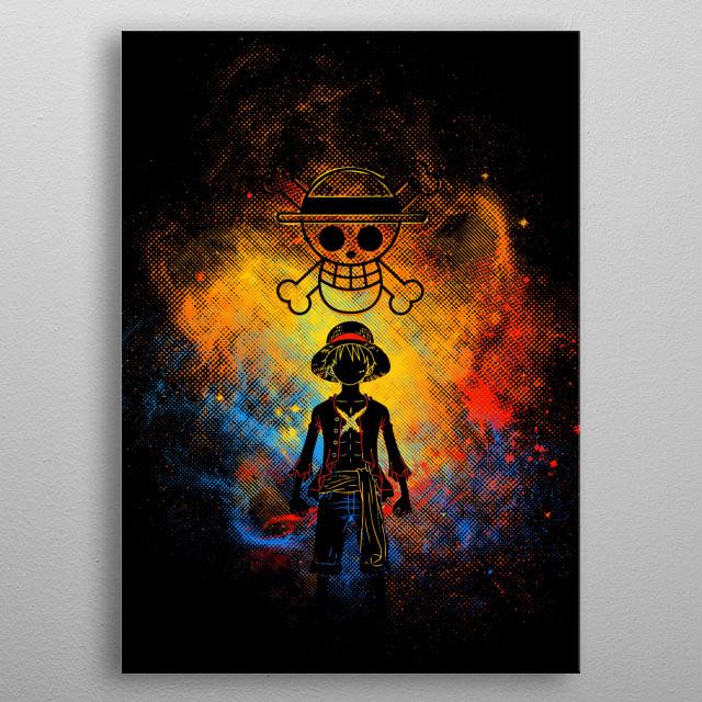 Straw Hat Pirates Art metal poster