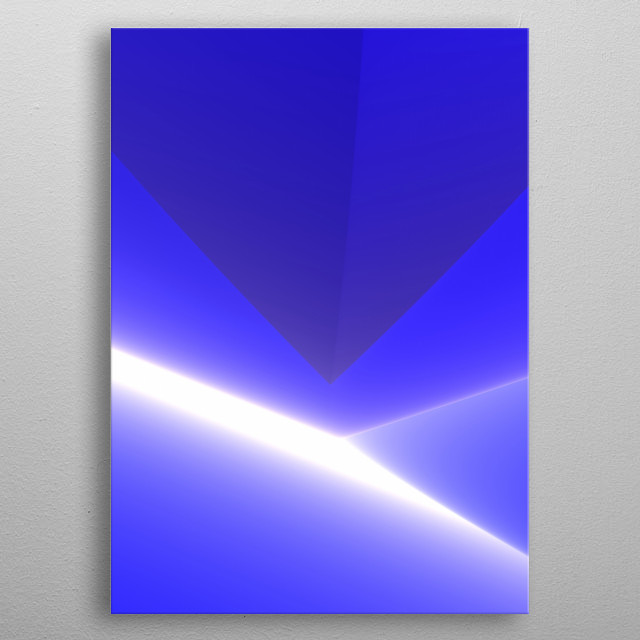 Mysterious, diaphanous excursion into the unknown blue. metal poster