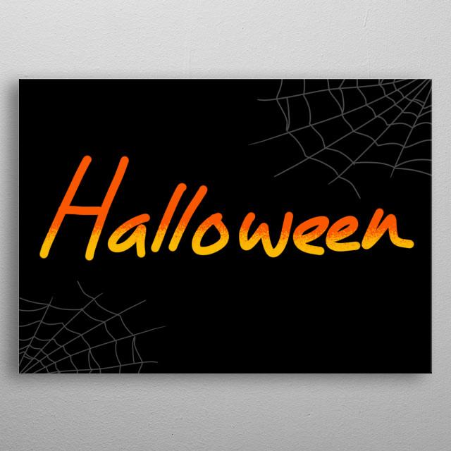 Happy Halloween Hand Drawn Illustration metal poster