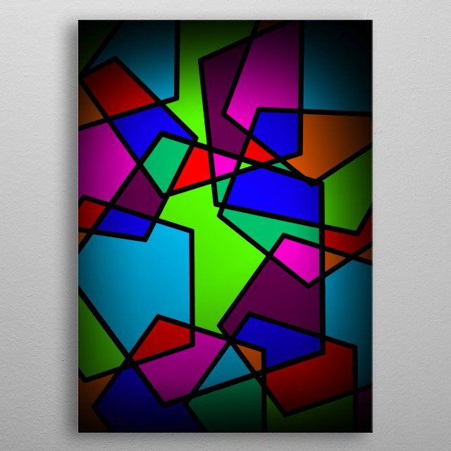 Everyone else's life has different colors and shapes. metal poster