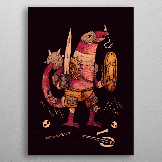 standard fantasy game bad guys!  metal poster